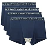 David Archy Men's 4 Pack Micro Modal Separate Pouches Trunks (M,Navy Blue) offers