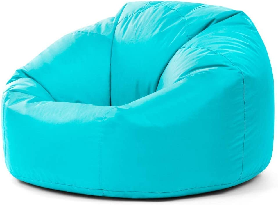 Bean Bag Bazaar Panelled Classic Bean Bag Chair Aqua Blue Large 84cm X 70cm Indoor Outdoor Water Resistant Beanbags Amazon Co Uk Kitchen Home