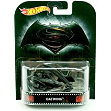 BATWING from the hit film BATMAN v SUPERMAN DAWN OF JUSTICE Hot Wheels 2015 Retro Series 1:64 Scale Die Cast Vehicle