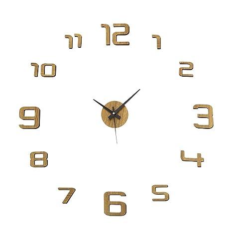 Reloj de Pared Adhesivo de Polipropileno Beige Moderno para salón Factory - LOLAhome