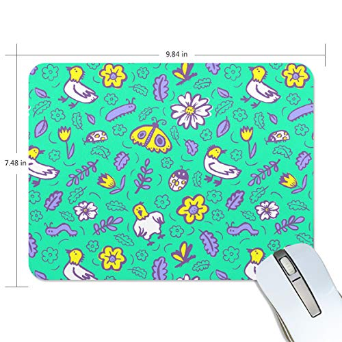 Flowers Dragonfly Pendants Kite Rectangle Creative Painting Durable Comfortable Waterproof Smooth Work Home Extra Large Gaming Mouse Pads