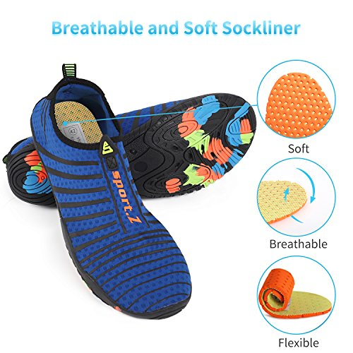 a Water Socks Sports Heeta Men For Aqua Quick Women Barefoot Shoes thick Blue Dry Swim Beach Z awdWAWq4p