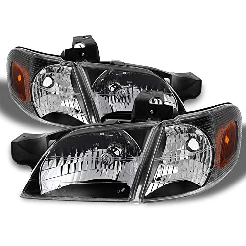 (Xtune for 1997-2005 Chevy Venture/Silhouette/Montana Headlights + Corner Lights Combo L+R Pair L+R 1998 1999 2000 2001 2002)