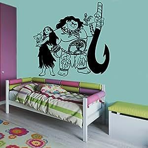 Amazon Com Moana Maui Image Moana Wall Vinyl Decal Home