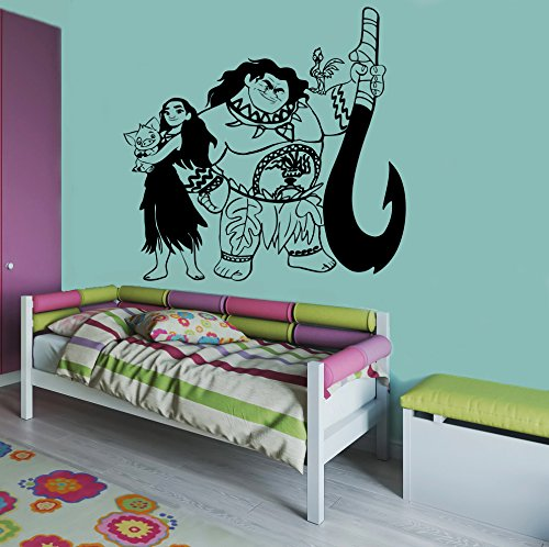 Moana Maui Image Moana Wall Vinyl Decal Home Decor Applique Kid Room Boys Girls Bedroom Graphic moana5
