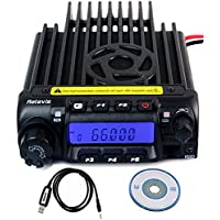 Retevis RT-9000D Mobile Car Radio VHF 66-88MHz 60W 200CH 50CTCSS/1024DCS 8 Group's Scrambler with Programming Cable(1 Pack)