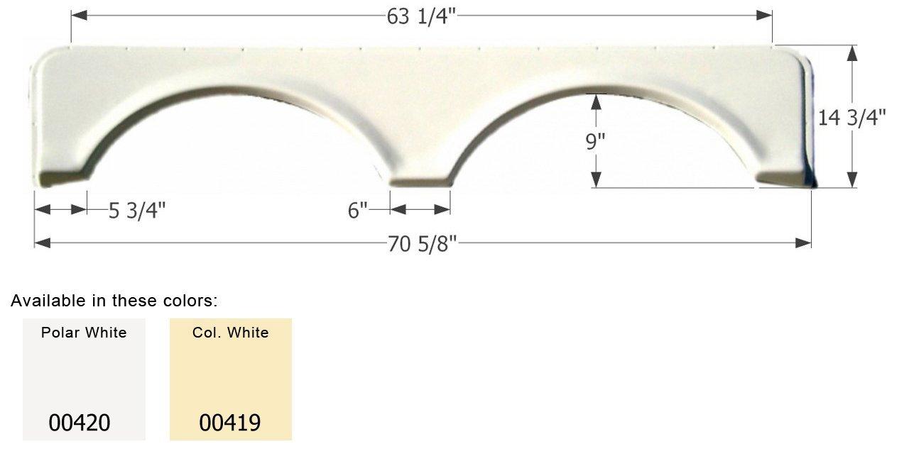 ICON FS671 Tandem Fender Skirt, Polar White 00420