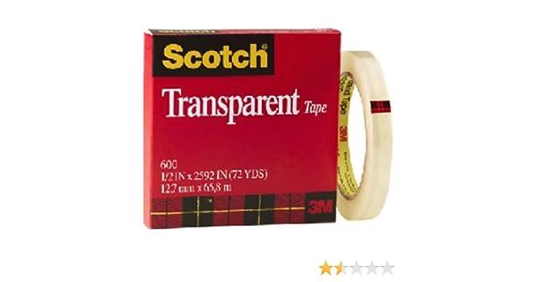 Scotch Transparent Tape Cat 600. 1 in x 2592 in.