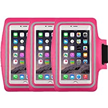 Racer Sport Gym Armband CaseHigh Shop with Scratch-Resistant Dual Arm-Size Slots and Key Holder for Cellphones Under 5.8 Inch iPod MP3 Player