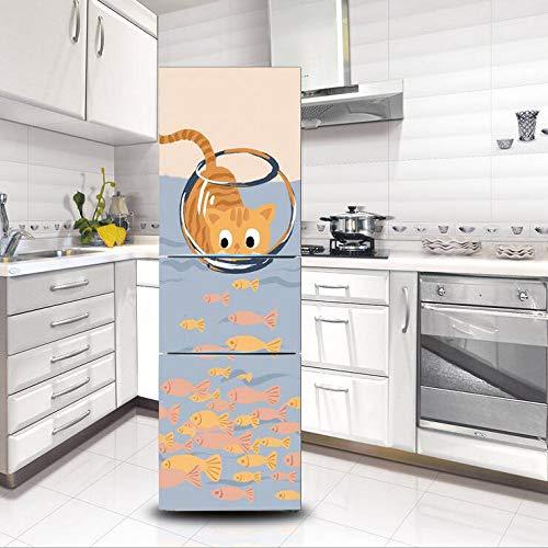 Impermeable Desmontable Pegatina Puerta Refrigerador Lindo Gatito ...