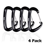 Triwonder 12KN Aluminium Wiregate Carabiners - Heavy Duty 2646 Pound Rating - Lightweight Carabiner Clips for Hammock Climbing
