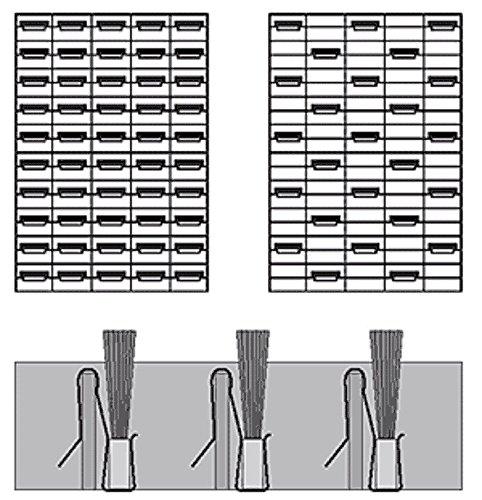 schwarz Farbe 500 St. B/ürstenklemmelemente//B/ürstenclips//B/ürsten zum Aufstecken auf Gitterroste