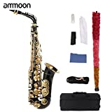 ammoon bE Alto Saxphone Brass Lacquered Gold E Flat Sax (Sax)