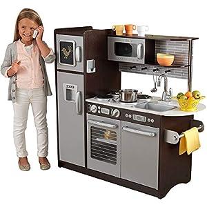 KidKraft Uptown Espresso Kitchen – Amazon Exclusive, Multi, 43 x 18 x 41