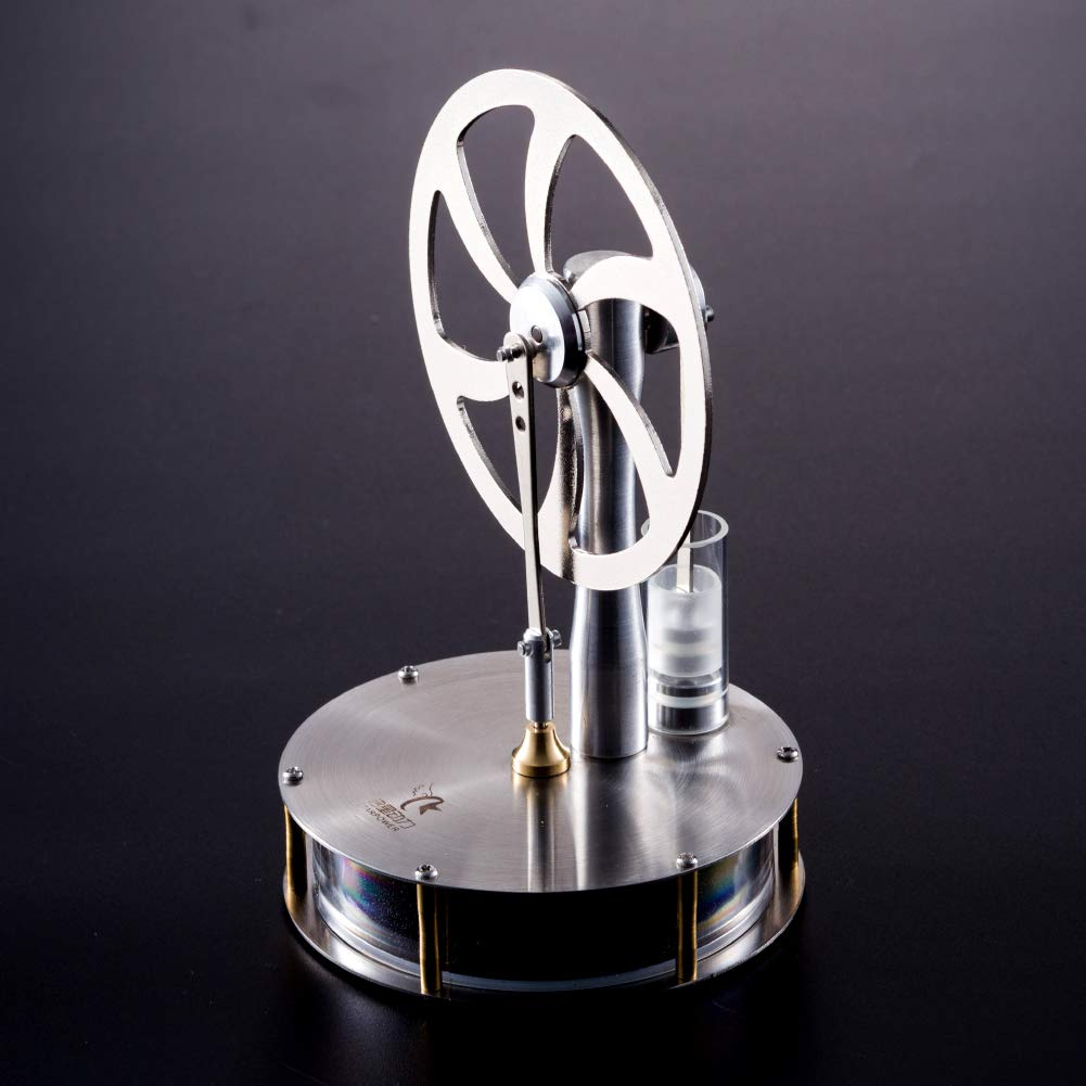 At27clekca Low Temperature Stirling Engine Model Aluminum Alloy Steam Power Kids Steam Heat Science Educational Toy by At27clekca (Image #5)