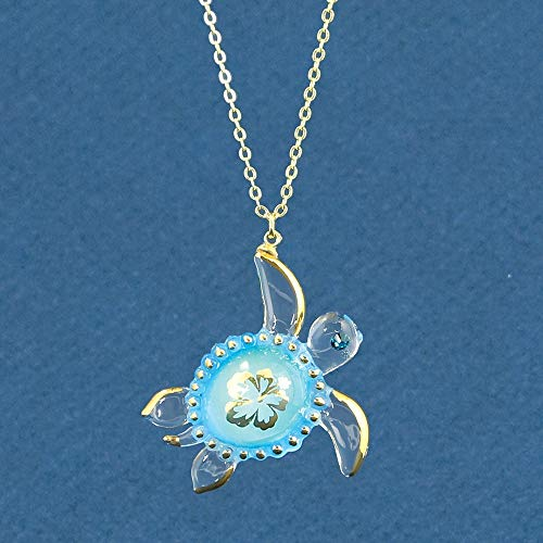 (Glass Baron ~ Aloha Sea Turtle Necklace)