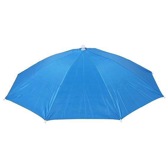 SODIAL(R) Sombrero Gorro Paraguas Umbrella Cabeza para Deporte: Amazon.es: Deportes y aire libre