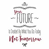 Aluminum Your Future Is Created By What You Do Today Not Tomorrow Designs Motivational Inspirational Signs Comme, 12x12