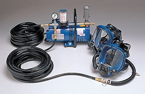 Supplied Air Pump Package, 3/4 HP, People Served: 2, Headgear Included: Full Face - Package Supplied Pump Air
