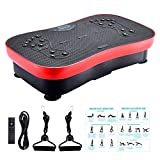 FITODO Vibration Platform Power Plate Crazy Fit Workout Machine--Fitness for Home and Office/Balance Training/Stretching Exercise/Bluetooth Music/Resistance Bands (Max Load Capacity 330 lbs)