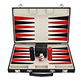 Best Backgammon Sets - Backgammon Set with Travel Leatherette Carrying Case Review