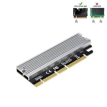RA NVME PCIe x16 con disipador de Calor, Llave M.2 SSD de Alta ...