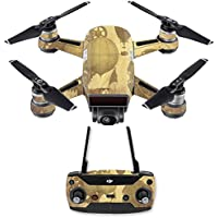 Skin for DJI Spark Mini Drone Combo - Steam Punk Paper| MightySkins Protective, Durable, and Unique Vinyl Decal wrap cover | Easy To Apply, Remove, and Change Styles | Made in the USA