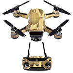 MightySkins Skin Compatible with DJI Spark Mini Drone Combo - Steam Punk Paper | Protective, Durable, and Unique Vinyl… 5