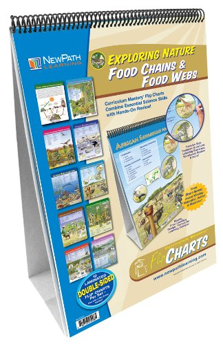 Food Chain Chart - NewPath Learning 10 Piece Food Chains/Food Webs Curriculum Mastery Flip Chart Set, Grade 5-10