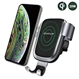 Wireless Car Charger, Steanum Fast Gravity Car Mount Qi Car Charger Air Vent Phone Holder, 10W Fast Charging Compatible with Galaxy S9 S8 S7/S7 Edge, Note 5, 7.5W Compatible with iPhone XR/XS/XS Max/X/8/8 Plus and Qi Enabled Devices