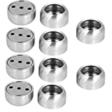 uxcell 25mm Dia Stainless Steel Closet Rod Flange Round Socket Holder Silver Tone 10pcs