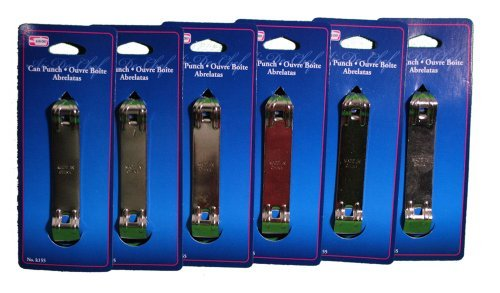 - Lot of 6 Bottle Can Punch Openers Chrome Church Key