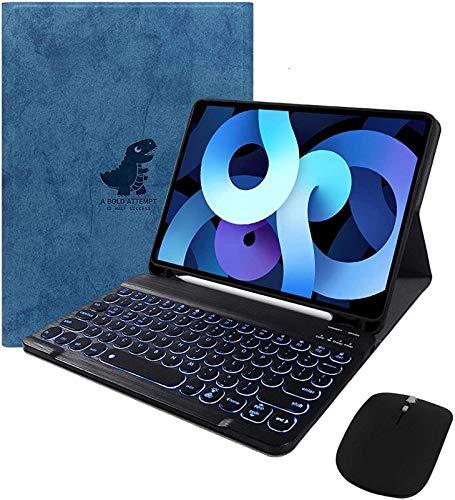 Nieuwe Ipad Pro 12.9 2020-toetsenbordhoes – 7 Kleuren Verlicht Afneembaar Toetsenbord Slim Folio Smart Cover Voor Ipad…