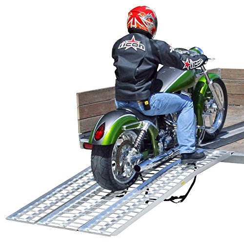 - Black Widow Rage Powersports M-8440 3-Piece Non-Folding Motorcycle Ramp