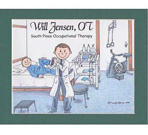 Occupational Therapy Personalized Gift Custom Cartoon Print 8x10, 9x12 Magnet or Keychain by giftsbyabigail