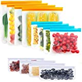 12 Pack Reusable Sandwich & Snack Bags Extra-Thick Reusable Food Storage Bags Freezer Bags Leak Proof Bags PEVA Lunch Bag for Make-up Toiletries