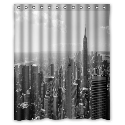 Image Unavailable Not Available For Color Innovation Print Design Black And White New York City Skyline Shower Curtain