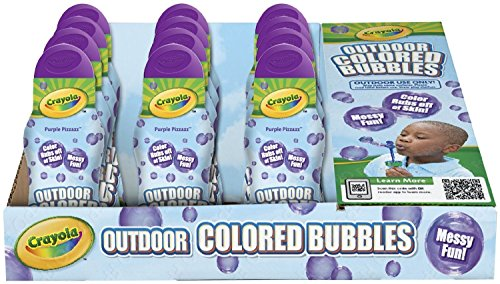 Crayola Outdoor Washable Colored Bubbles