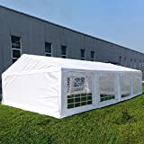 Quictent 13'X26' Heavy Duty Outdoor Gazebo Wedding Party Tent BBQ Canopy Carport with 8 Removable Side Walls