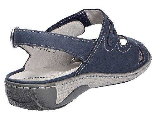 Sandalia de las mujeres Waldläufer Azul 37 38 38,5 39 40 41 42 intercambiable Azul