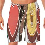 Haixia Man Lightweight Swim Short 70s Party Decorations Cute Stylish I Love Sev
