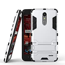 ZTE Grand X4 Cover DWaybox 2 in 1 Hybrid Heavy Duty Armor Hard Back Case Cover with kickstand for ZTE Grand X 4 / ZTE Grand X4 Z956 5.5 Inch (Silver)
