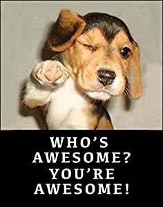 Amazon.com: Funny Retro Poster Who's Awesome You're