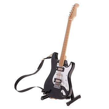 Amazon.es: F Fityle Modelo Guitarra de Madera con Soporte Adornos ...