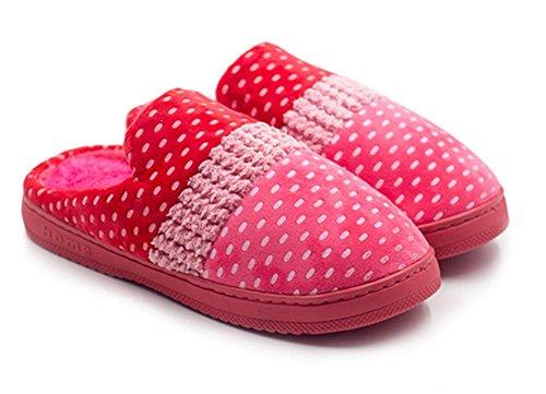 Mules Chaussons Coton WDGT on Automne Slippers Intérieure Couple Douce Femme Accueil Doublure Slip Chaussures Hiver Homme Pantoufles 001 Peluche WRqvYrqCg