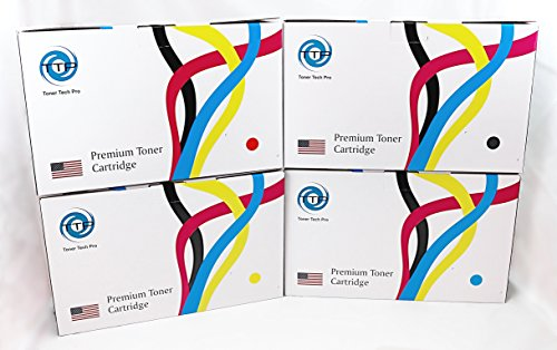 - TTP Brand Premium Set of 4 Colors Value Pack New Compatible Toner for Hewlett Packard CE340A, CE341A, CE342A, CE343A, HP 651A, for Color LJ M775dn, M775f, MFP M775dn, Enterprise700 MFP M775F, M775Z