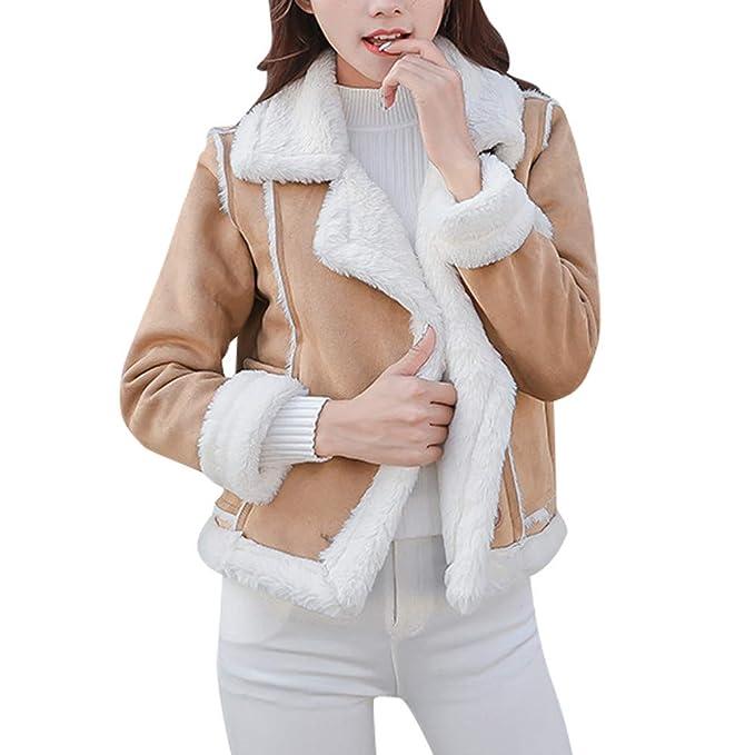 Cebbay Chaqueta Moto Abrigo de Piel Top de Manga Larga Caliente de Piel sintética Abrigo de algodón Trajes para la Nieve Liquidación: Amazon.es: Ropa y ...