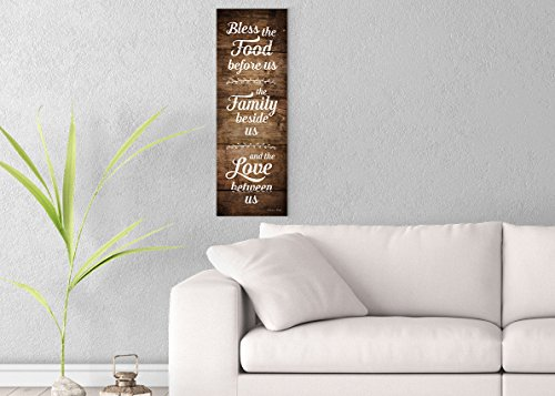 Bless the Food Before Us Printed on 10x30 Canvas Wall Art by Pennylane