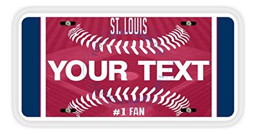 (BleuReign(TM) Personalized Custom Name Baseball St. Louis Car Vehicle License Plate Auto Tag)