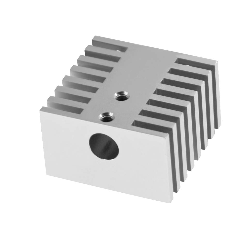 CoCocina Aluminium Alloy Dual Head Heatsink V6 Sliver Cooling Block for 3D Printer